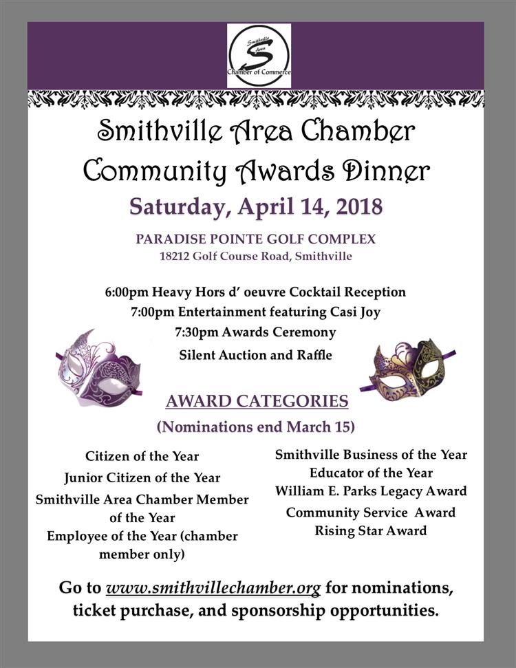 2018 Community Awards flyer